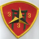 USMC 3rd MARINE 3rd BATTALION  -  MILITARY PATCH