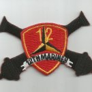 USMC 12th MARINE REGIMENT  -  MILITARY PATCH - 12th MARINES