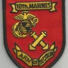 USMC - 10th MARINE REGIMENT ARM OF DECISION -  MILITARY PATCH