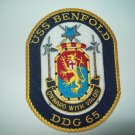 DDG-65 USS Benfold Guided Missile Destroyer Ship Military Patch
