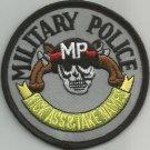 MILITARY POLICE - KICK A** & TAKE NAMES SKULL GUNS MILITARY PATCH