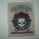 ANTI SNIPING SECTION BAGHDAD OPERATION IRAQI FREEDOM MILITARY PATCH