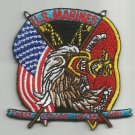 U.S.M.C. (THESE COLORS NEVER RUN)  MILITARY PATCH - UNITED STATES MARINE CORPS