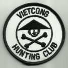 VIETCONG HUNTING CLUB MOTORCYCLE JACKET BIKER VEST MORALE MILITARY PATCH VER. A