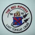 VF-11 The Red Rippers Squadron Patch Insignia Last Tomcat Cruise 80' - 05'