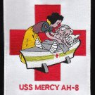 USS MERCY AH-8 MILITARY PATCH - SNOW WHITE