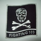 """VF-103 Jolly Rogers  Insignia Fighting 103 MILITARY PATCH """"SKULL CROSSBONES"""""""