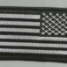 REVERSE BLACK & SILVER AMERICAN FLAG MOTORCYCLE BIKER JACKET VEST MILITARY PATCH