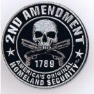 2nd AMENDMENT ORIGINAL HOMELAND SECURITY MOTORCYCLE BIKER VEST MILITARY PATCH