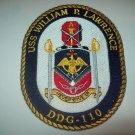 DDG-110 USS William P. Lawrence Destroyr Military Patch