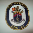 DDG-107 USS GRAVELY Guided Missile Destroyer Military Patch Dynamis Ex Cardias