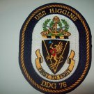 DDG-76 USS HIGGINS Guided Missile Destroyer Military Patch FIRST TO FIGHT