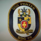DDG-78 USS PORTER Guided Missile Destroyer Military Patch FREEDOMS CHAMPION