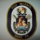 DDG-74 USS McFAUL  Patch Guided Missile Destroyer Military Patch