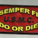 SEMPER FI USMC DO OR DIE MOTORCYCLE JACKET BIKER VEST MORALE MILITARY PATCH