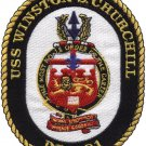 DDG-81 USS Winston S. Churchill Guided Missile Destroyer Military Patch