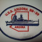 USS ARIZONA (BB-39) BATTLESHIP WWII MILITARY PATCH