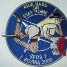US Army Cav. 4/3/S S FOR 7 Bosnia 2000 MILITARY Patch