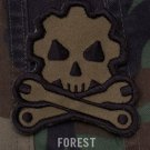 DEATH MECHANIC - FOREST - GEARHEAD TACTICAL BADGE MORALE VELCRO MILITARY PATCH