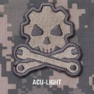 DEATH MECHANIC - ACU LITE - GEARHEAD TACTICAL BADGE MORALE VELCRO MILITARY PATCH