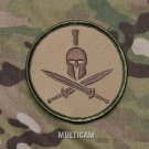 SPARTAN MULTICAM TACTICAL COMBAT BLACK OPS BADGE MORALE VELCRO MILITARY PATCH