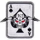 ARMY 1st Special Forces Group ODA-161 Military Patch ACE OF SPADES SKULL CARD