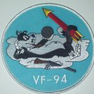 """US NAVY VF-94 Fighter Squadron Military Patch """"CAT ON CLOUD"""""""