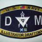 United States Navy Deck Illustrator Draftman Ratings Military Patch - DM
