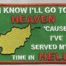 I KNOW I'LL GO TO HEAVEN AFGHANISTAN MOTORCYCLE BIKER JACKET VEST MILITARY PATCH