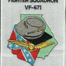 US NAVY VF-671 Reserve Fighter Squadron SIX SEVEN ONE Military Patch GEORGIA