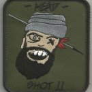 SNIPER TALIBAN HUNTING ONE SHOT ONE KILL HEAD SHOT VELCRO MORALE MILITARY PATCH