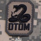 DTOM ACU DONT TREAD TACTICAL BLACK OPS BADGE MORALE PVC VELCRO MILITARY PATCH