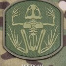 SKELETON FROGMAN MULTICAM TACTICAL COMBAT BADGE MORALE PVC VELCRO MILITARY PATCH