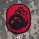 BERSERKER RED ISAF TACTICAL BLACK OPS BADGE MORALE PVC VELCRO MILITARY PATCH