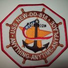 US NAVY - DD-818 USS NEW - GEARING CLASS DESTROYER MILITARY PATCH