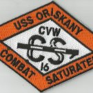 CVA-34 USS ORISKANY CARRIER AIR WING CVW-16 Military Patch COMBAT SATURATED ORNG