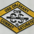 CVA-34 USS ORISKANY CARRIER AIR WING CVW-16 Military Patch COMBAT SATURATED YELW