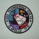 USS TICONDEROGA CVS-14 - APOLLO 17 - AIRCRAFT CARRIER MILITARY PATCH