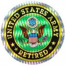 UNITED STATES ARMY RETIRED MILITARY CAR VEHICLE WINDOW DECAL PATRIOTIC STICKER