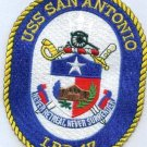 LPD-17 USS San Antonio Dock Landing Ship Military Patch NEVER RETREAT SURRENDER