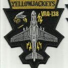 NAVY ELECTRONIC ATTACK AIRCRAFT SQUAD EA-6B YELLOWJACKETS MILITARY PATCH VAQ-138