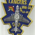 US NAVY ELECTRONIC ATTACK AIRCRAFT EA-6B LANCERS MILITARY PATCH VAQ-131
