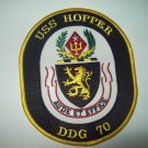 DDG-70 USS Hopper Guided Missile Destroyer Military Patch AUDE ET EFFICE