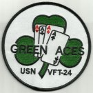 NAVY VFT-24 Vertical Fighter Training Squad Two Four Military Patch GREEN ACES