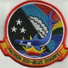 NAVY AVIATION PATROL SQUADRON SIX VP-6 MILITARY PATCH PATRON SIX - BLUE SHARKS
