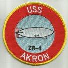 NAVY USS AKRON ZR-4 ZEPLIN CLASS RIGID AIRSHIP MILITARY PATCH (ZRS-4)