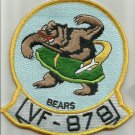 US NAVY VF-878 Reserve Fighter Squadron EIGHT SEVEN EIGHT Military Patch BEARS