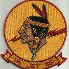 NAVY VA-851 Reserve Attack Squadron EIGHT FIVE ONE Military Patch INDIAN JET