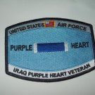 United States Airforce IRAQ Purple Heart Veteran Military Patch