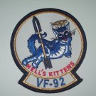 US NAVY - VF-92 Fighter Squadron Military Patch - HELL'S KITTENS